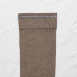 socks - bonne maison -  Plain - Taupe - women - men - mixed