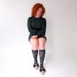 chaussettes - bonne maison -  Feuille - Faux noir - femme - homme - mixte