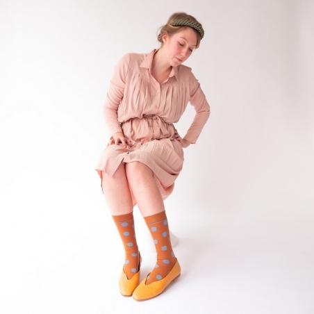 Socks Caramel Polka Dot