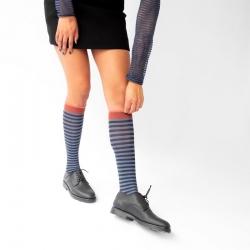 Knee-highs Denim Stripe
