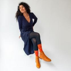 chaussettes - bonne maison -  Pois - Citrouille - femme - homme - mixte