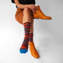 chaussettes - bonne maison -  Brique - Multico - femme - homme - mixte