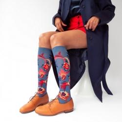 chaussettes - bonne maison -  Indienne - Denim - femme - homme - mixte
