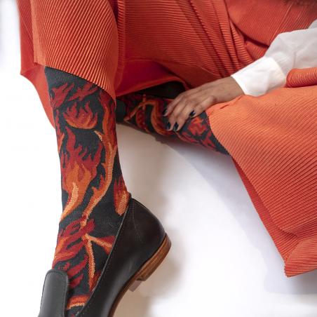 chaussettes - bonne maison -  Feu - Nuit - femme - homme - mixte
