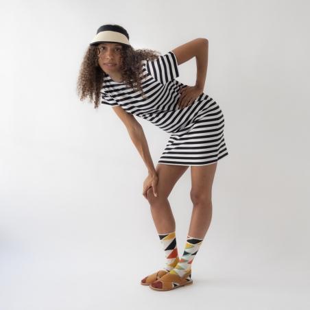 socks - bonne maison -  Zigzag - Multico - women - men - mixed