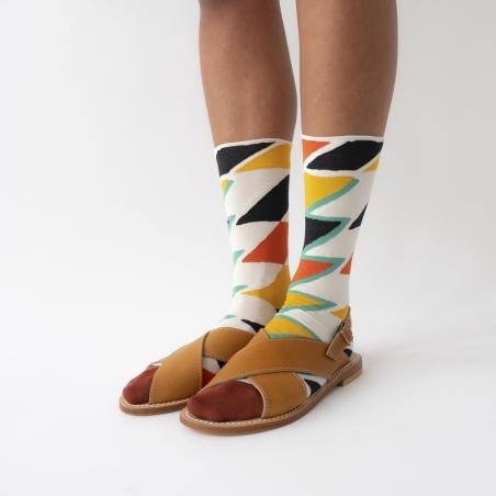 chaussettes - bonne maison -  Zigzag - Multico - femme - homme - mixte
