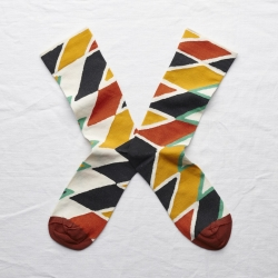 socks - bonne maison -  Zigzag - Multico - women - men - mixed