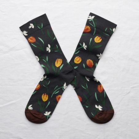 socks - bonne maison -  Tulip - Dark - women - men - mixed