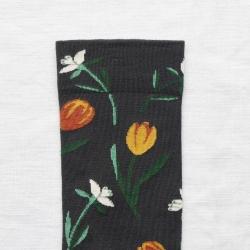 chaussettes - bonne maison -  Tulipe - Faux Noir - femme - homme - mixte