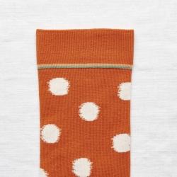chaussettes - bonne maison -  Pois - Orange - femme - homme - mixte
