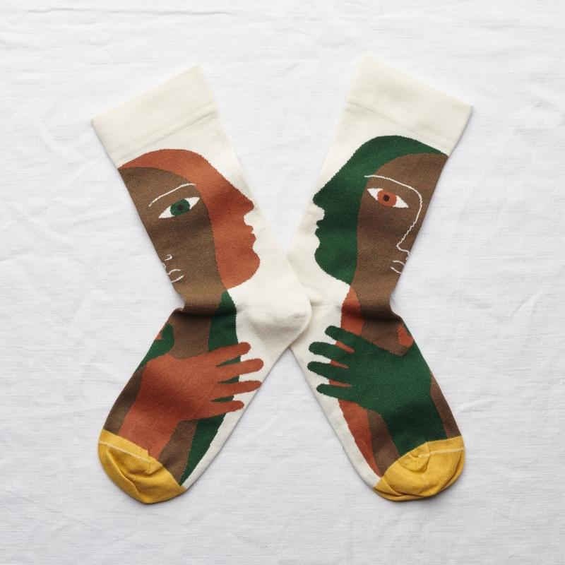 chaussettes - bonne maison -  Tête - Naturel - femme - homme - mixte