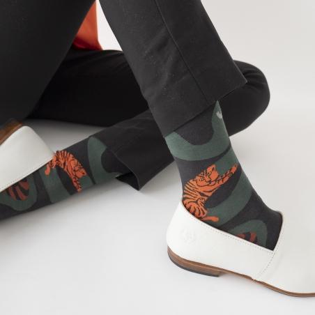 socks - bonne maison -  Snake - Dark - women - men - mixed