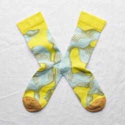 chaussettes - bonne maison -  Algue - Jaune Fluo - femme - homme - mixte