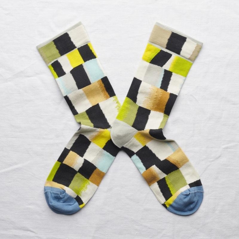 socks - bonne maison -  Checks - Multico - women - men - mixed