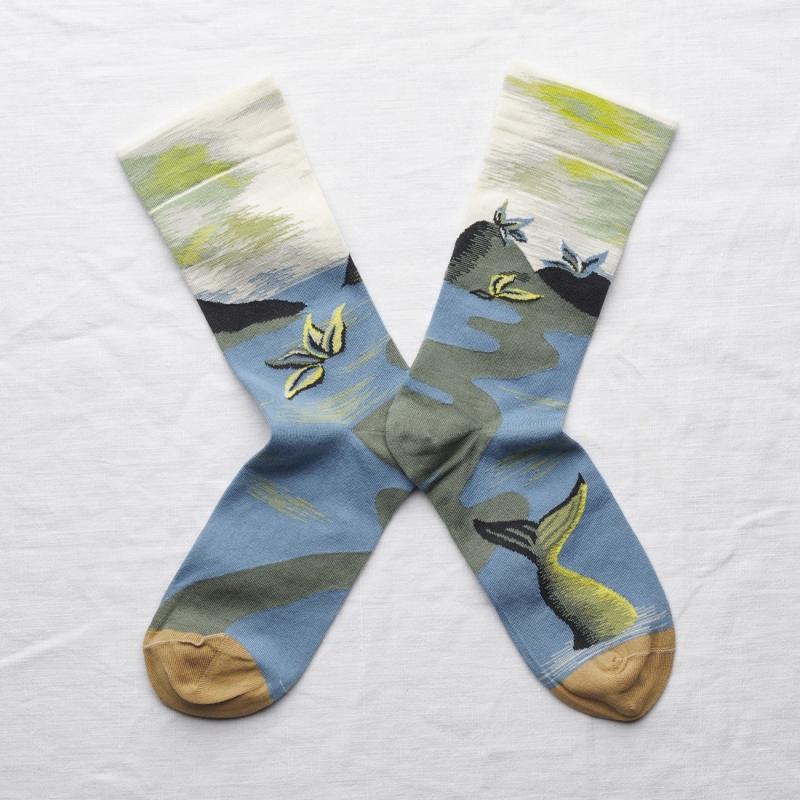 chaussettes - bonne maison -  Paysage - Mousse - femme - homme - mixte