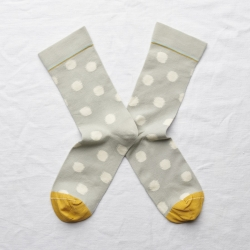 socks - bonne maison -  Polka Dot - Celadon - women - men - mixed