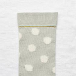 chaussettes - bonne maison -  Pois - Céladon - femme - homme - mixte