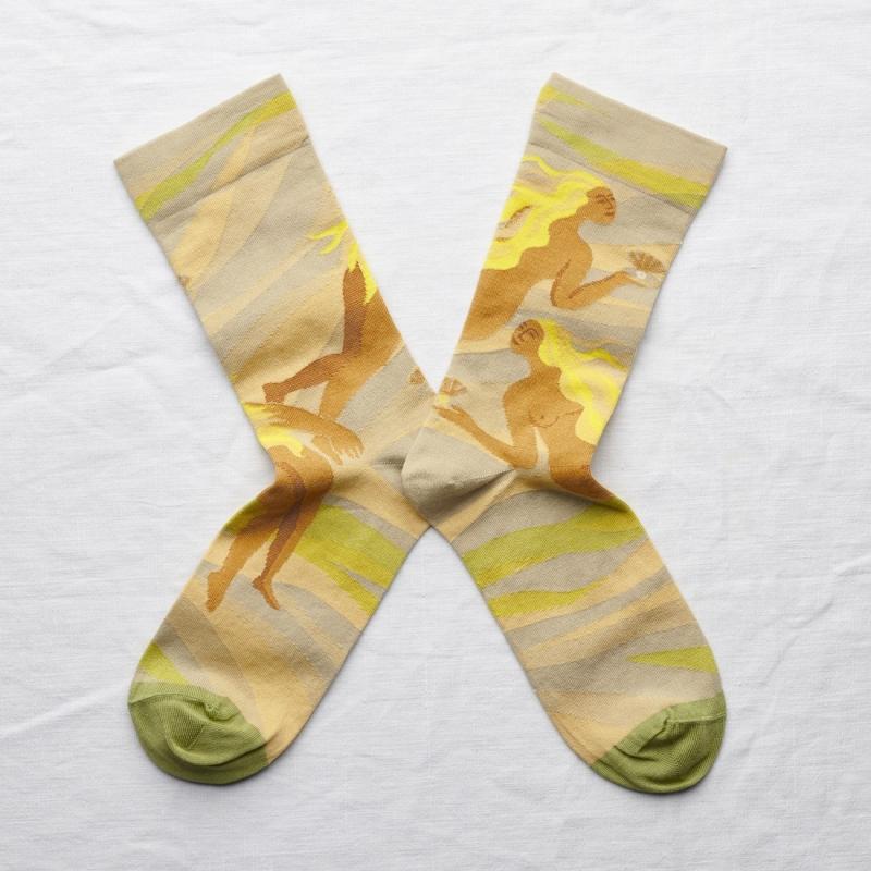 chaussettes - bonne maison -  Sirène - Céladon - femme - homme - mixte
