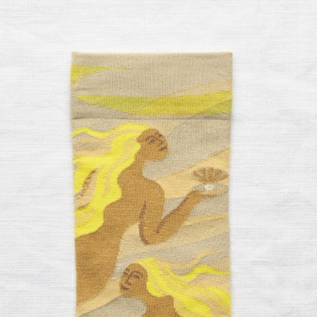 socks - bonne maison -  Mermaid - Celadon - women - men - mixed
