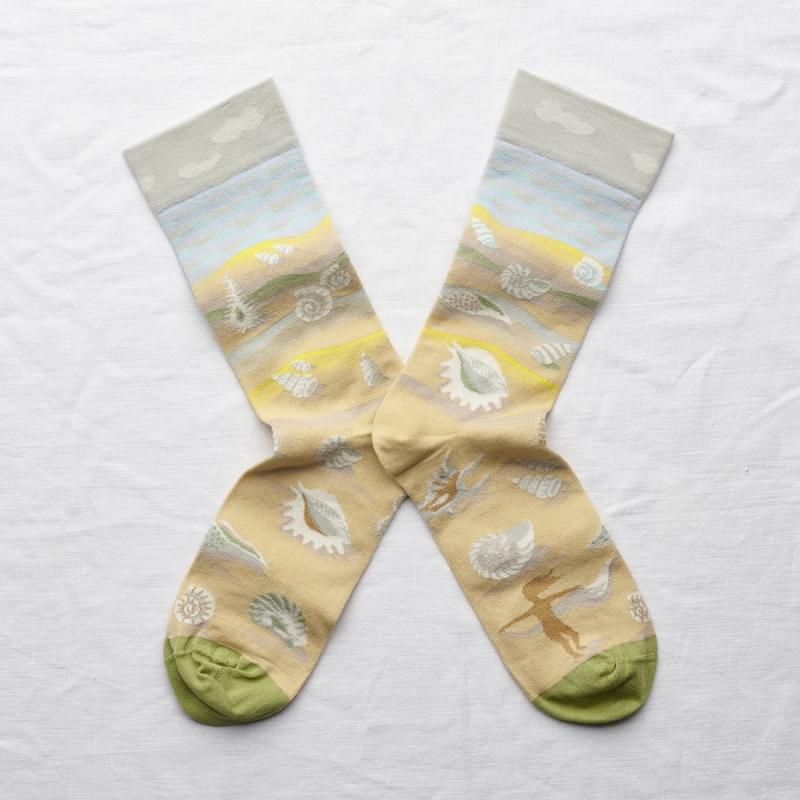 chaussettes - bonne maison -  Coquillage - Multico - femme - homme - mixte