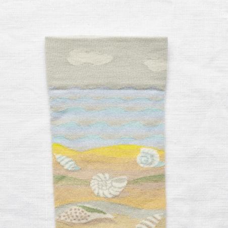socks - bonne maison -  Seashell - Multico - women - men - mixed