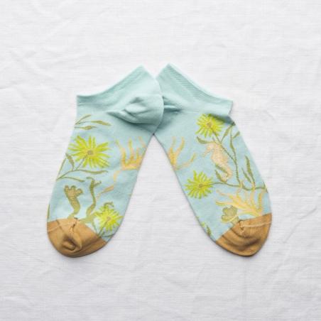 chaussettes - bonne maison -  Hippocampe - Aqua - femme - homme - mixte