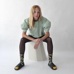chaussettes - bonne maison -  Poisson - Faux Noir - femme - homme - mixte
