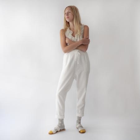socks - bonne maison -  Polka Dot - Celadon - women - men - mixed