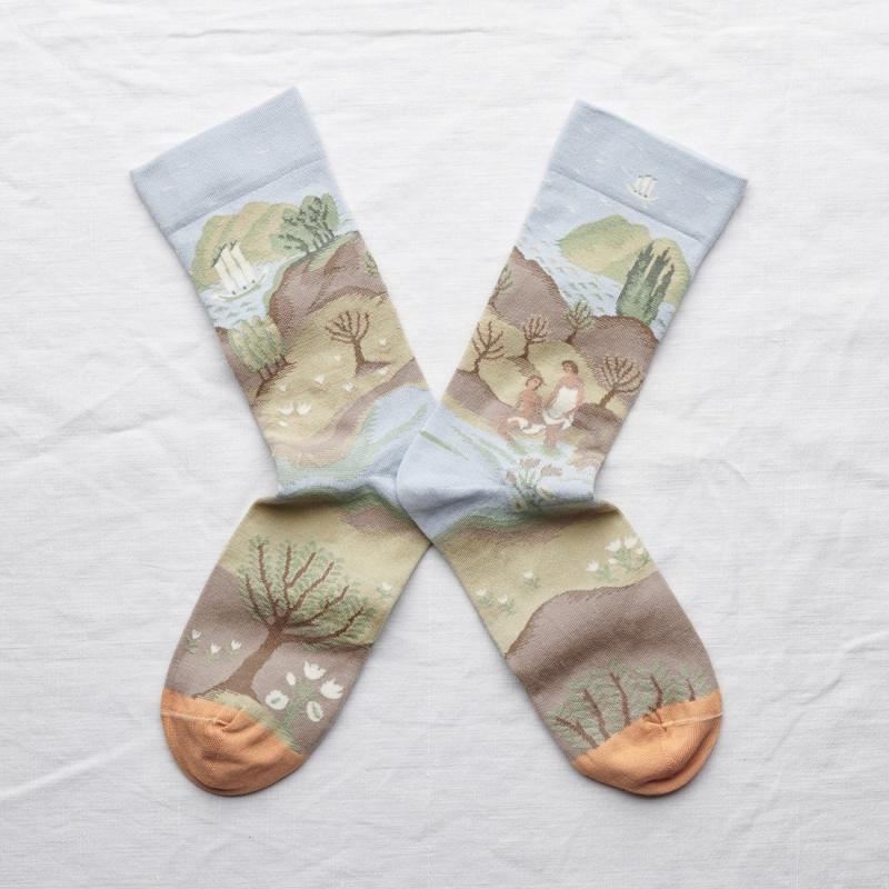 chaussettes - bonne maison -  Baignade - Ciel - femme - homme - mixte