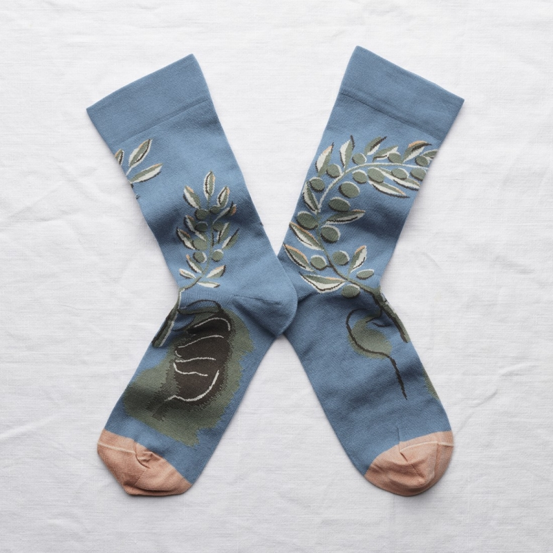 socks - bonne maison -  Olive Tree - Paradise - women - men - mixed