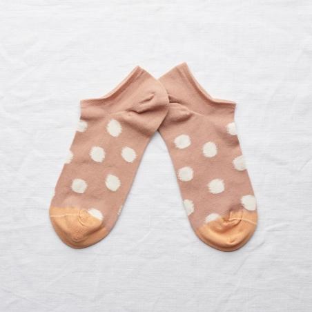 chaussettes - bonne maison -  Pois - Nude - femme - homme - mixte