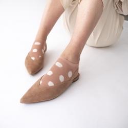 socks - bonne maison -  Polka Dot - Nude - women - men - mixed