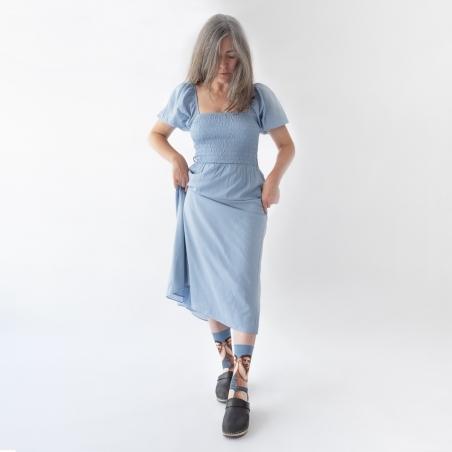 chaussettes - bonne maison -  Amant - Bleu Paradis - femme - homme - mixte