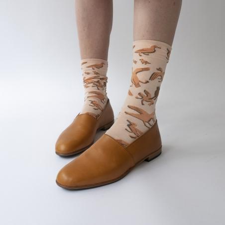 chaussettes - bonne maison -  Canard - Rose Bouton - femme - homme - mixte