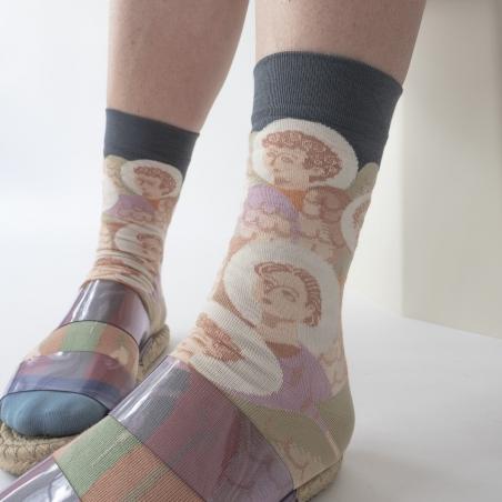 socks - bonne maison -  Angel - Steel - women - men - mixed
