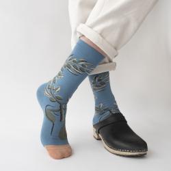 chaussettes - bonne maison -  Olivier - Bleu Paradis - femme - homme - mixte