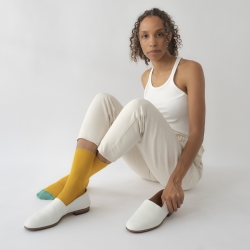 socks - bonne maison -  Plain - Buttercup - women - men - mixed