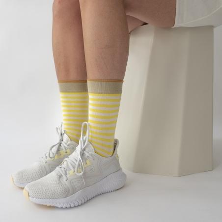 socks - bonne maison -  Stripe - Fluo - women - men - mixed