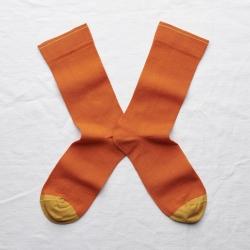 chaussettes - bonne maison -  Uni - Orange - femme - homme - mixte