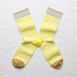 socks - bonne maison -  Stripe - Fluo - women - men - mixed