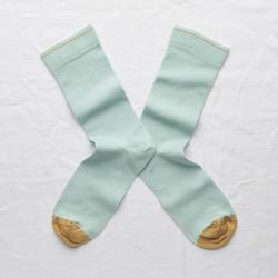 chaussettes - bonne maison -  Uni - Aqua - femme - homme - mixte