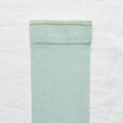 socks - bonne maison -  Plain - Aqua - women - men - mixed