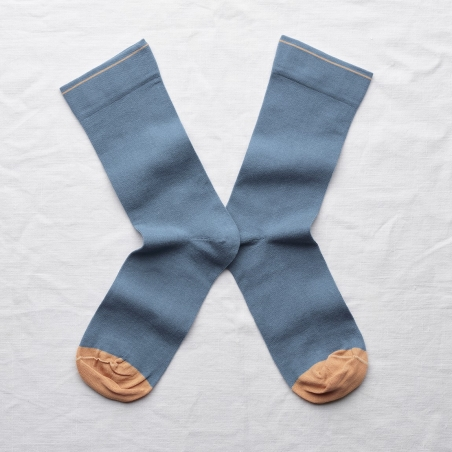socks - bonne maison -  Plain - Paradise - women - men - mixed