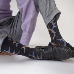 socks - bonne maison -  Thorn - Night - women - men - mixed