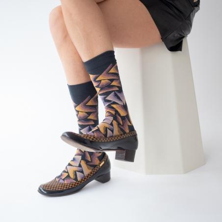 chaussettes - bonne maison -  Triangle - Nuit - femme - homme - mixte