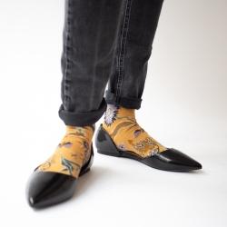 socks - bonne maison -  Indienne - Ochre - women - men - mixed