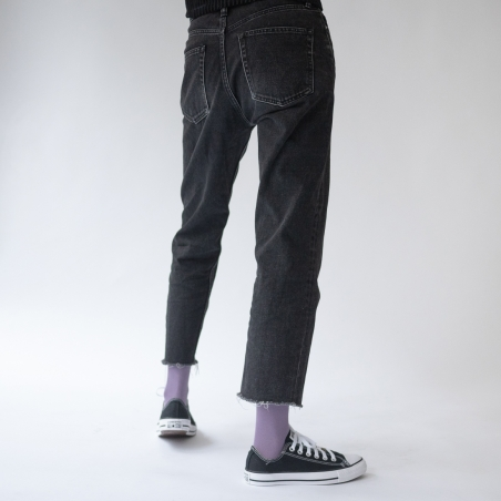 chaussettes - bonne maison -  Uni - Violet - femme - homme - mixte
