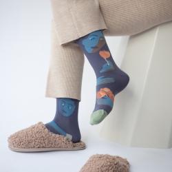 chaussettes - bonne maison -  Visage - Nocturne - femme - homme - mixte