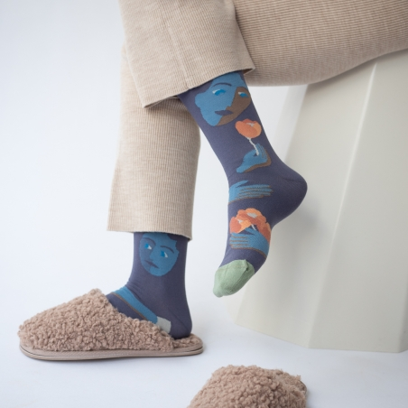 socks - bonne maison -  Face - Nocturnal - women - men - mixed