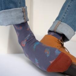 chaussettes - bonne maison -  Plume - Nocturne - femme - homme - mixte